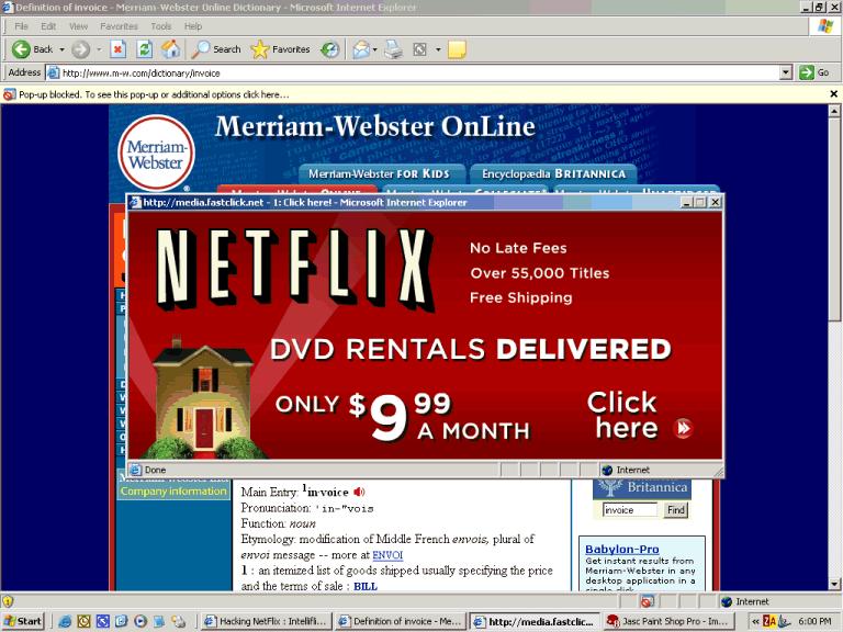 Dvd movie rental mail